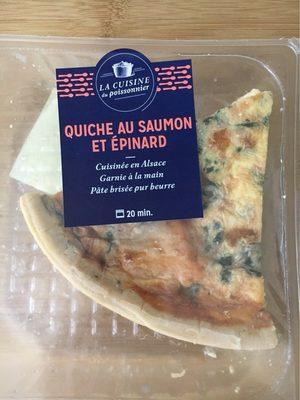 Quiche au saumon et epinard - Product - fr