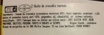 Filets de crocodile au curry vert - Ingredients
