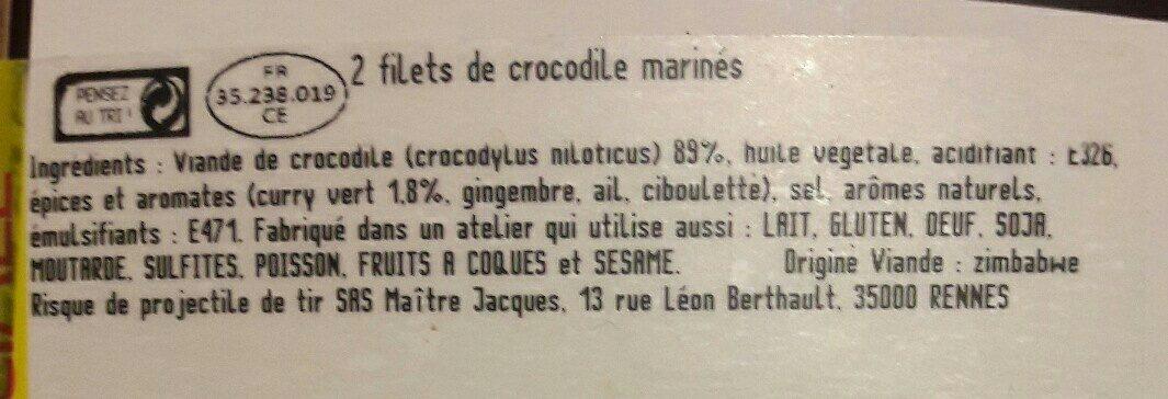 Filets de crocodile au curry vert - Ingredients - fr