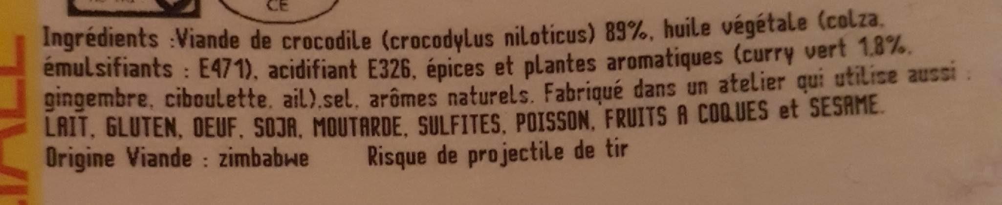 Filet de crocodile - Ingredients - fr
