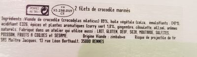 Filet de crocodile - Ingredients - fr