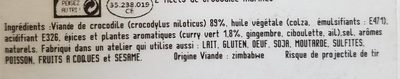 Filets de Crocodile - Ingredients - fr