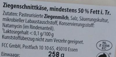 Ziegenkäse - Ingredients