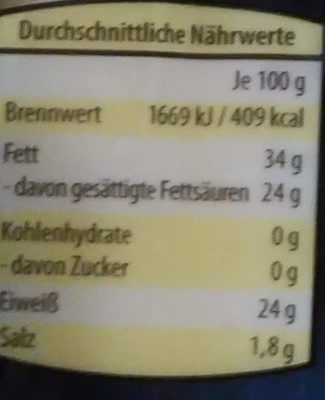 Ziegenkäse - Nutrition facts