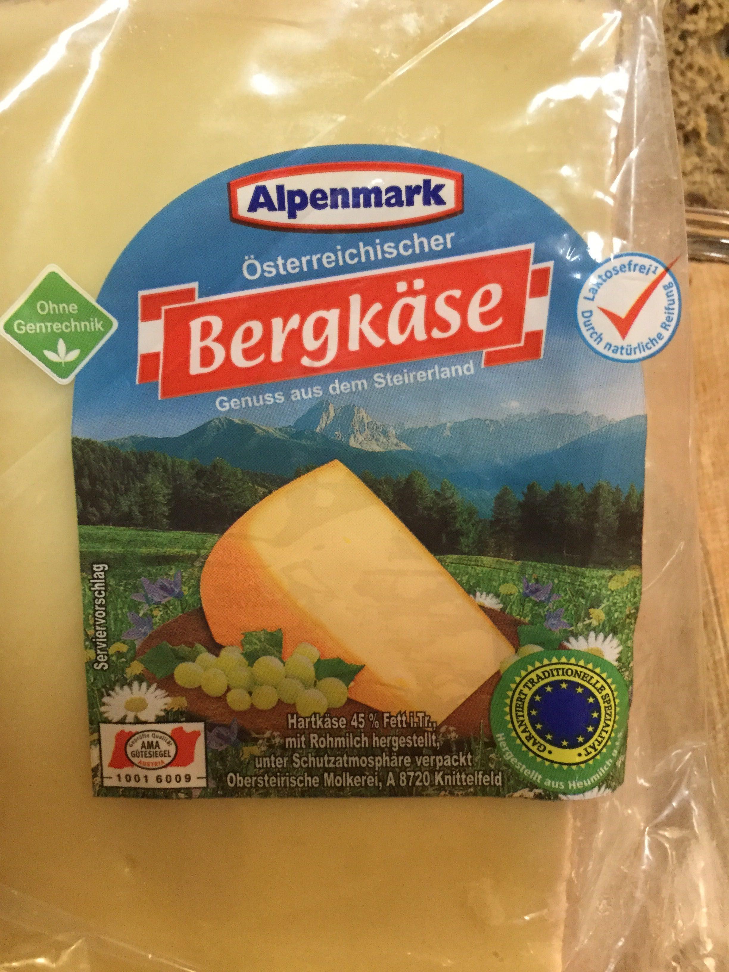 Osterreichischer Bergkase Alpenmark 100 G