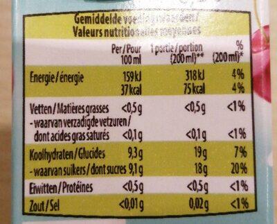 Jus pomme cerises Nono - Valori nutrizionali - fr