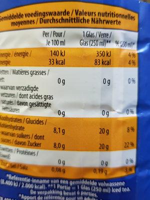 Iced Tea Perzik - Informations nutritionnelles