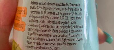 Tropical 6 Flesjes x 50 CL (nono) - Voedingswaarden - fr