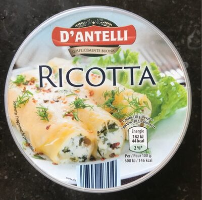 Ricotta - Nutrition facts - fr