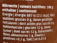 Les spécialités Coings - Informations nutritionnelles - fr