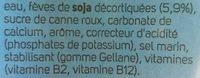 Boisson soja - Nature - Ingrediënten - fr