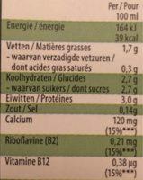 Boisson soja - Nature - Voedingswaarden - fr