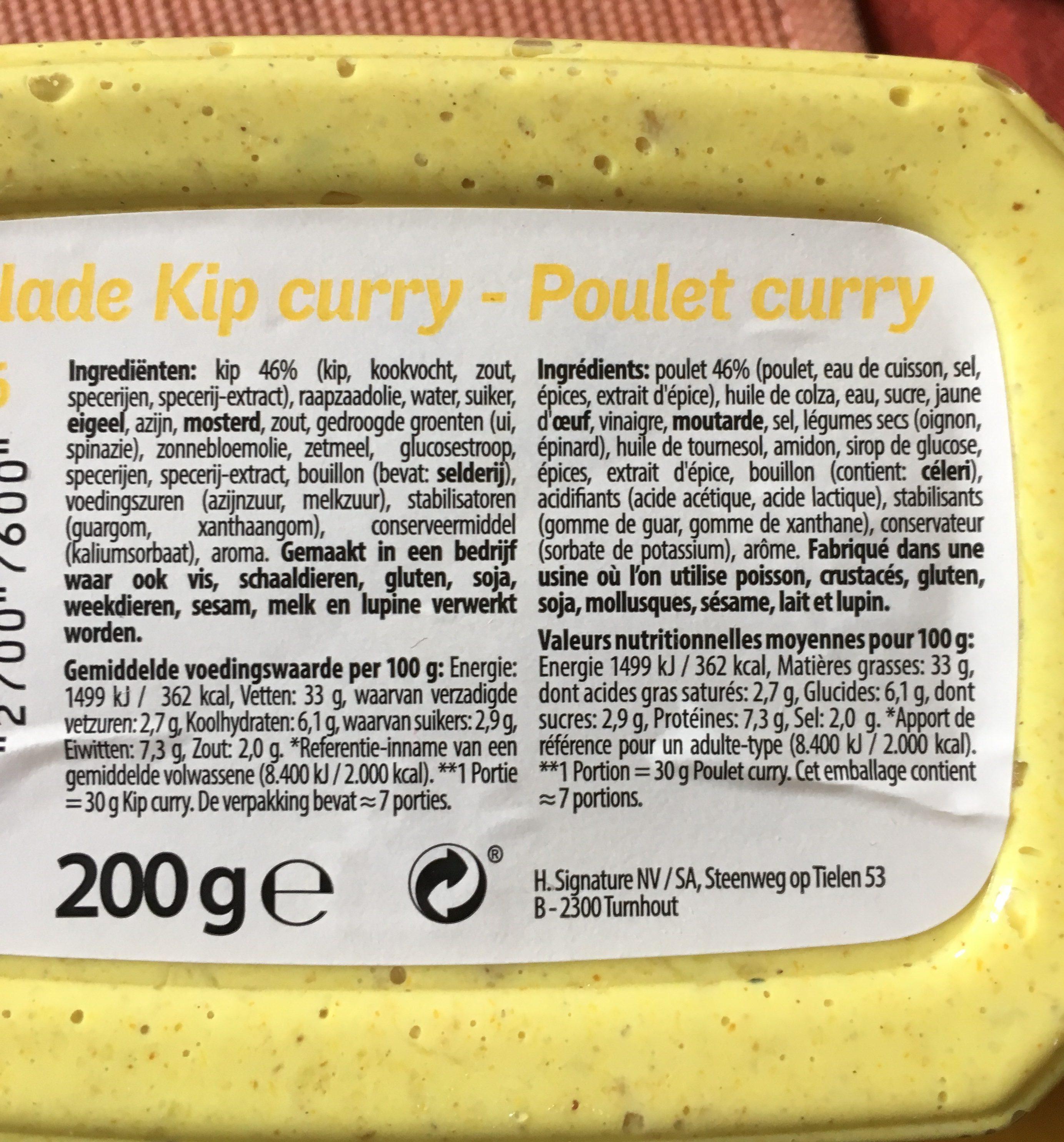 Poulet hawaï - Ingredients - fr