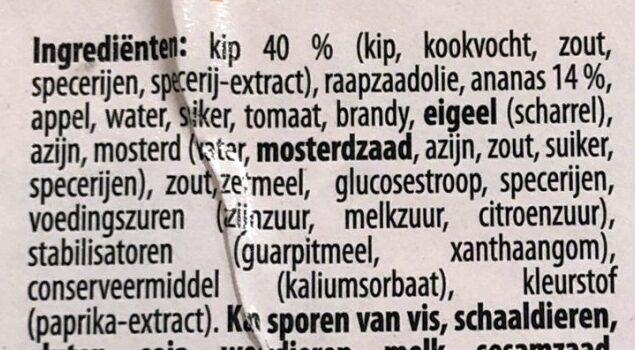 Poulet hawaï - Ingrediënten - nl