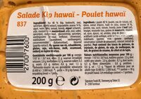 Poulet hawaï - Voedingswaarden - fr