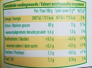 Mayon(n)aise au Citron - Voedingswaarden - fr