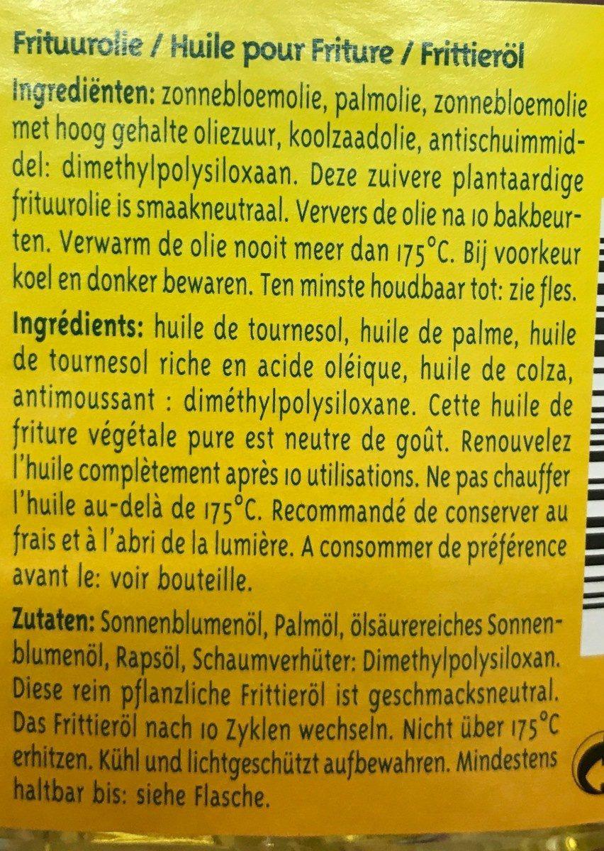 Huile pour Friture - Ingrediënten - fr