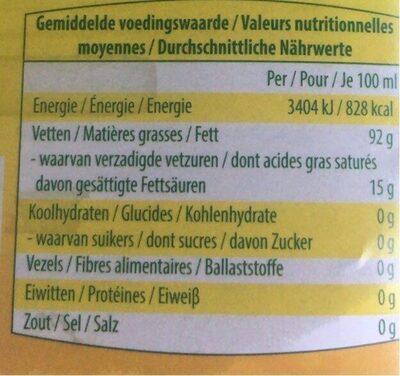 Huile pour Friture - Voedingswaarden - fr