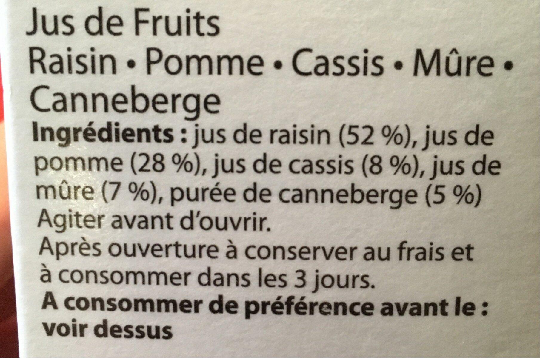 Ananas, orange sanguine, fruit de la passion, mangue banane - Ingredients