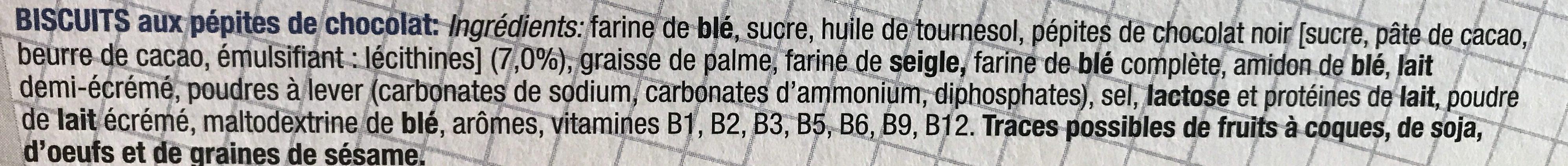 Biscuits de l ecolier - Ingrediënten - fr