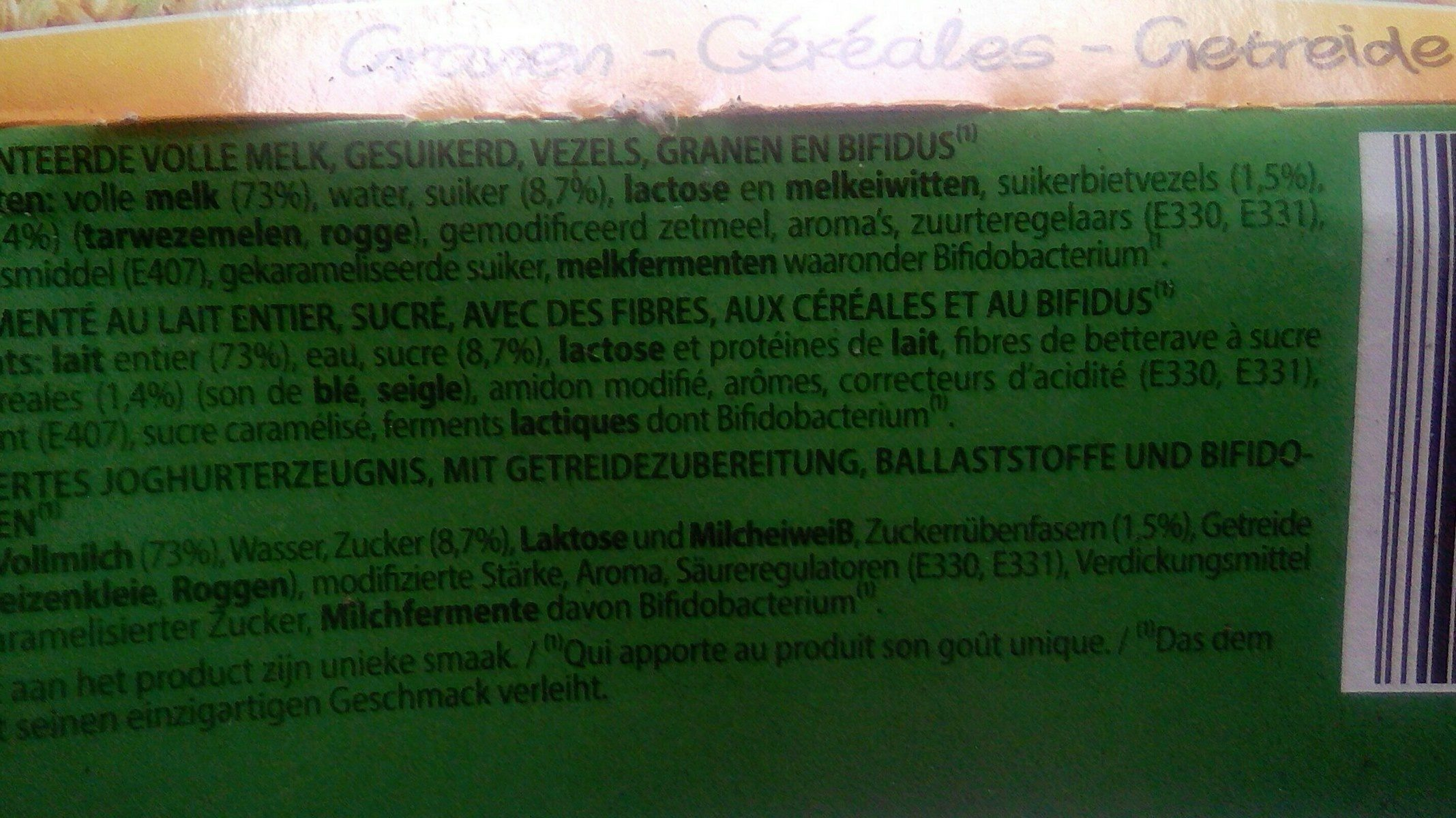 Bifidus Yoghurt 4 Cups x 125 Gram (milsactiv) - Ingrédients