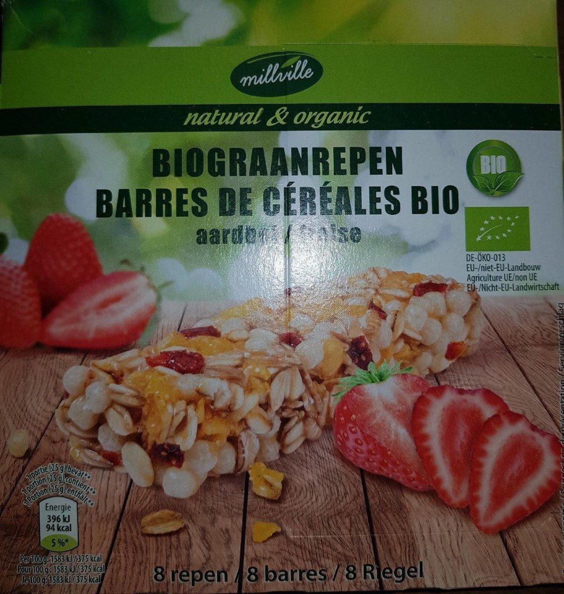 Barres de céréales Bio fraise - Product