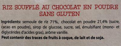 Choco balls - Ingrédients - fr