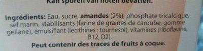 Boisson d'amande - Ingredienti - fr