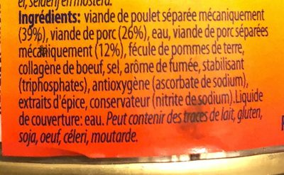 12 Saucisses Cocktail - Ingrediënten
