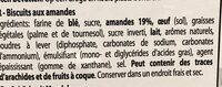 Amaretti - Ingrediënten - fr