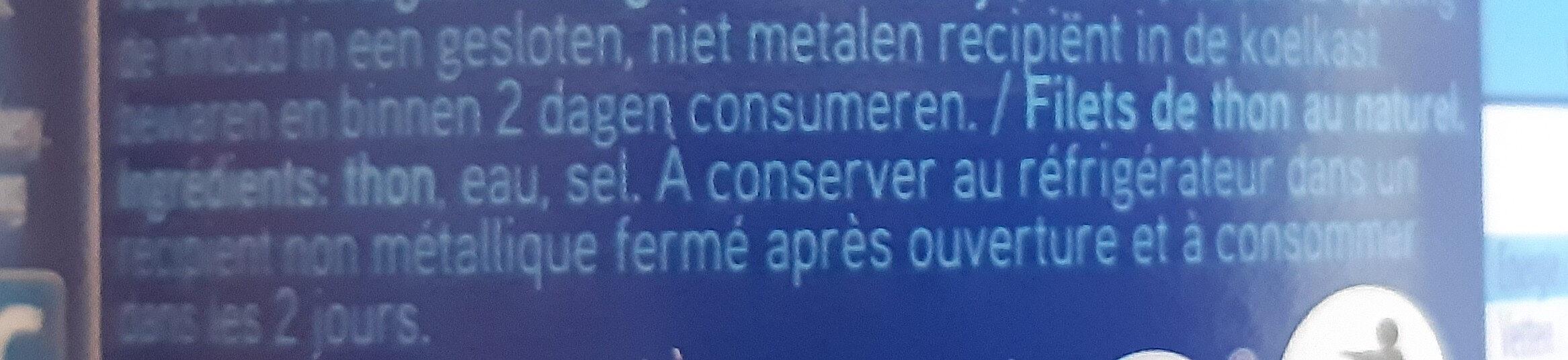 Thon - Filets - Ingredienti - fr