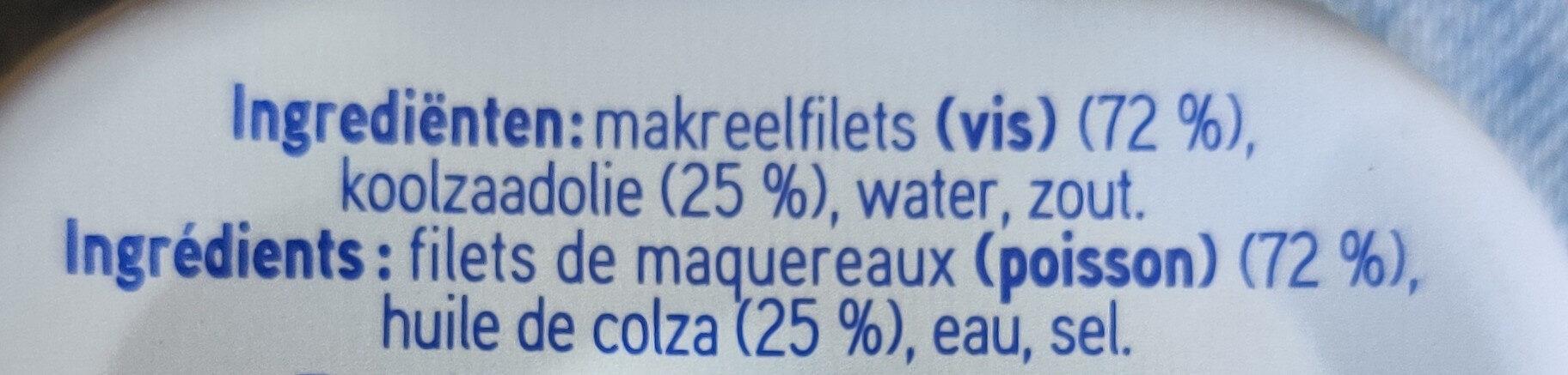 Filets de maquereaux à huile de colza - Ingredients