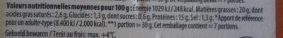Filet américain préparé - Voedingswaarden - fr