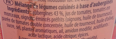 Aubergines à la provençale - Ingrediënten