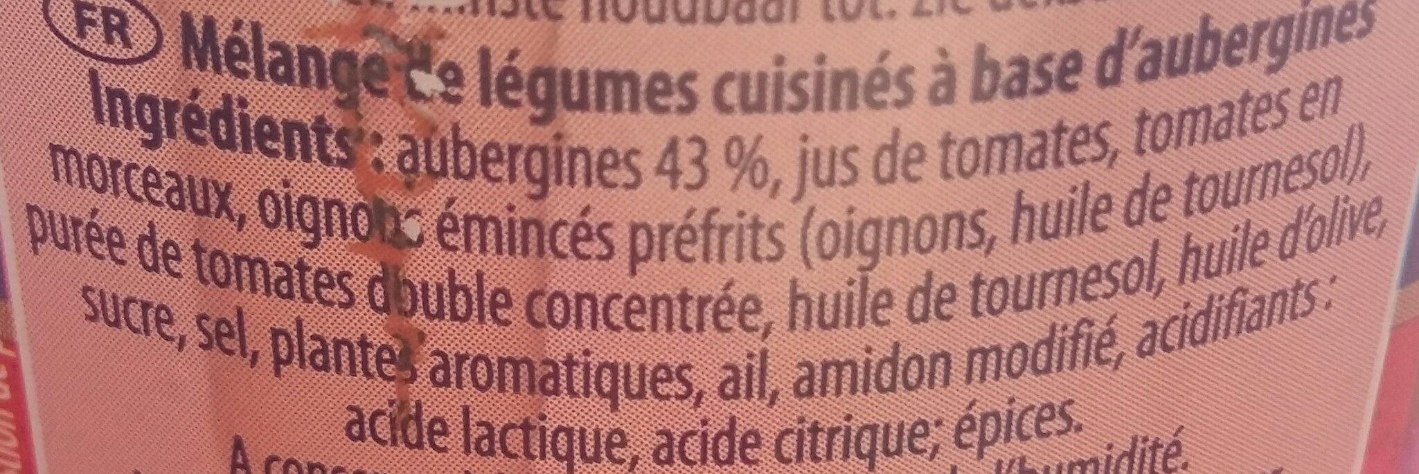Aubergines à la provençale - Ingrédients