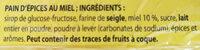 Pain d epice - Ingrédients - fr