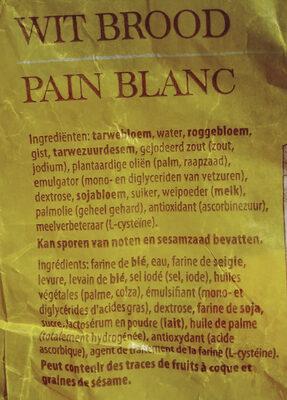 Pain Blanc - Ingrediënten