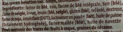 Pain complet - Ingredients - fr