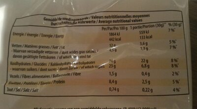 Mini biscuits Minions - Informations nutritionnelles