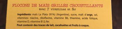 Corn Flakes 8 Vitamines - Ingrediënten - fr