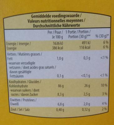 Corn Flakes 8 Vitamines - Voedingswaarden - fr