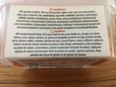 Filet Américain - Ingrediënten