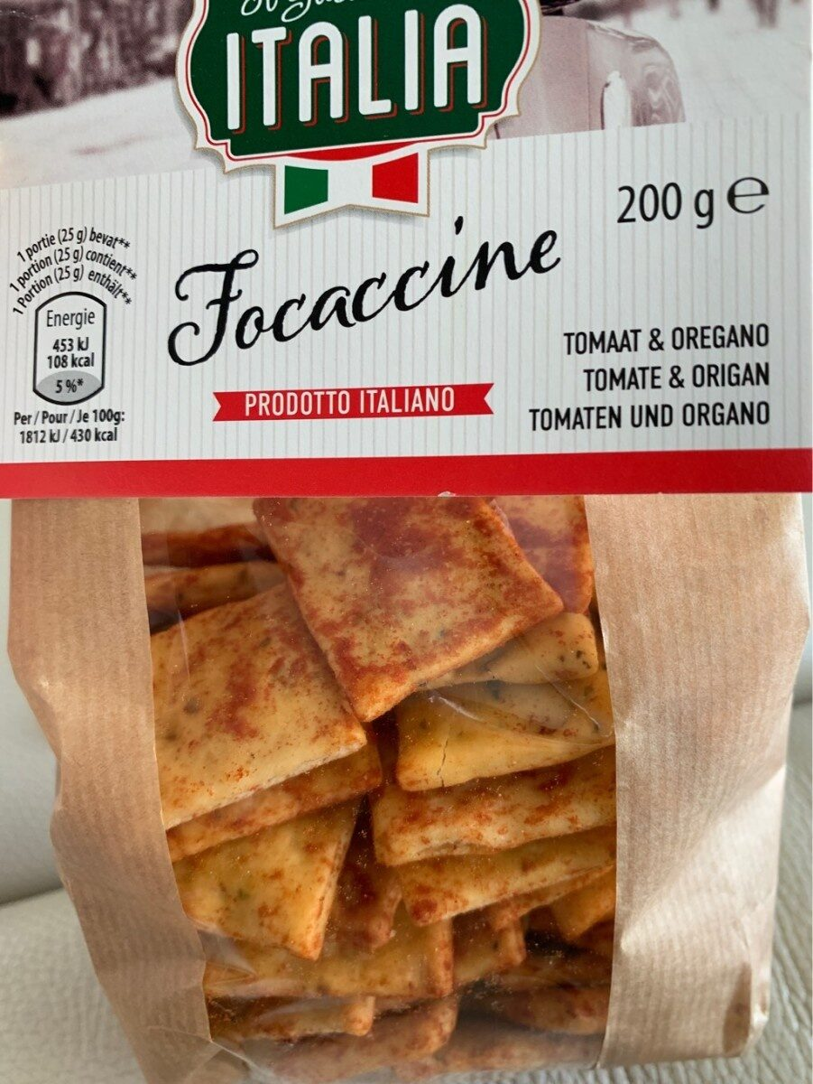 Focaccine tomate & origan - Producto - es