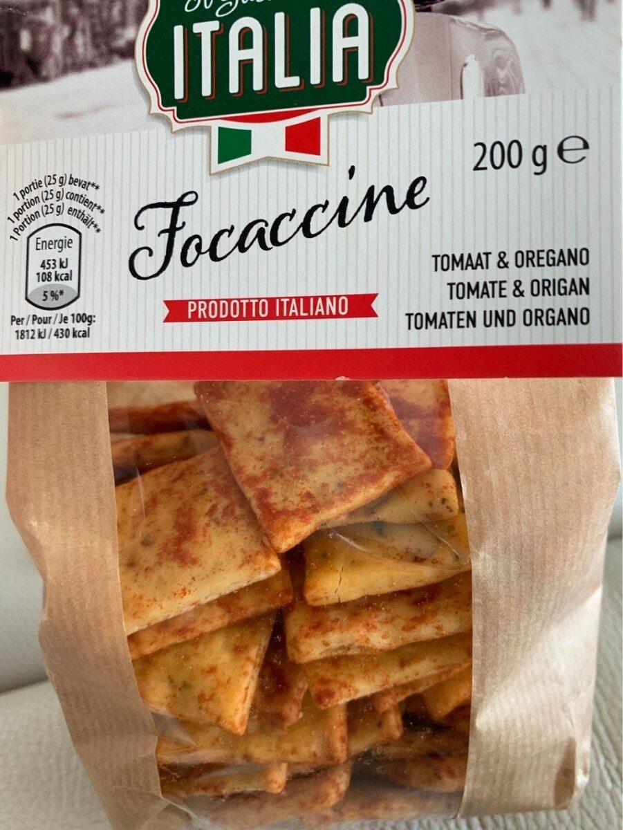 Focaccine tomate & origan - Produit - fr