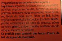 Menuto - Ingrédients