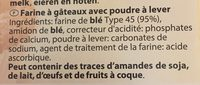 Farine a gateaux - Ingrédients - fr