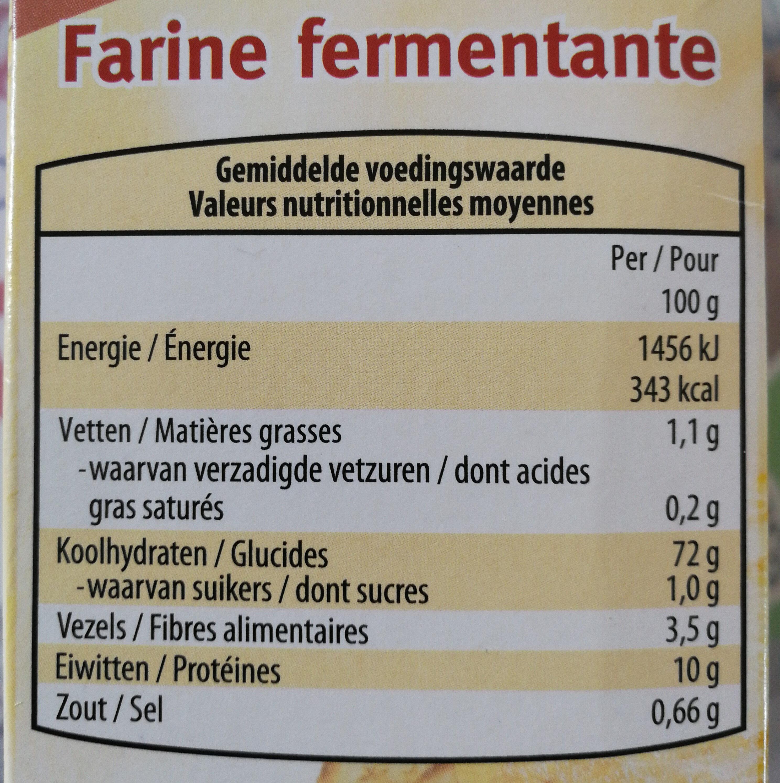 Farine a gateaux - Informations nutritionnelles - fr