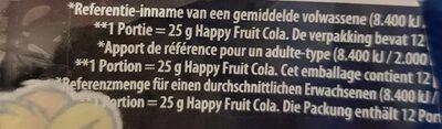 happy cola + Fruit - Ingrediënten
