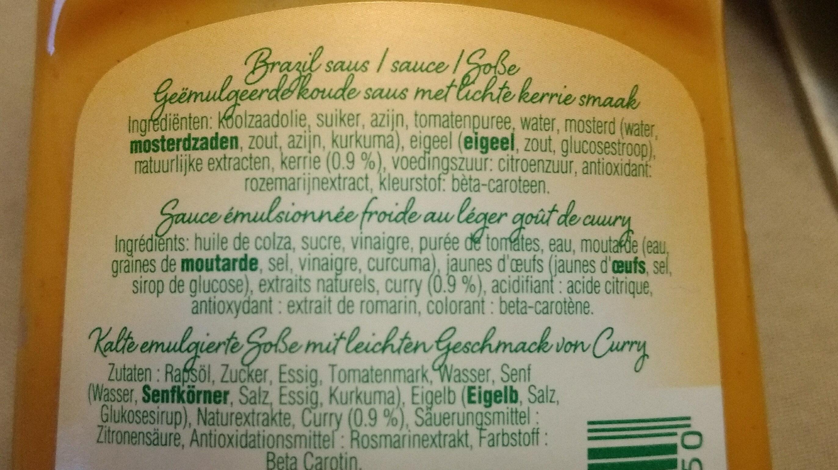 SAUCE BRAZIL - Ingredients - fr