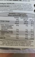 Lasagne saumon - Voedingswaarden - fr